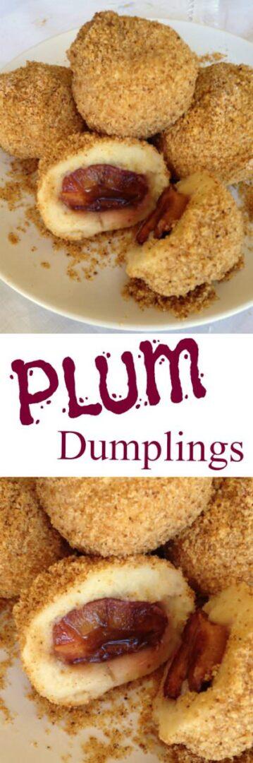 Hungarian plum dumplings szilvsgombc recipe culinary hungary hungarian plum dumpling szilvsgombc forumfinder Image collections