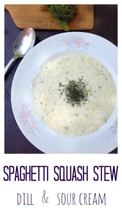 Hungarian squash stew with dill, tökfőzelék
