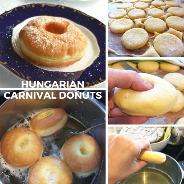 Hungarian ribboned carnival doughhut