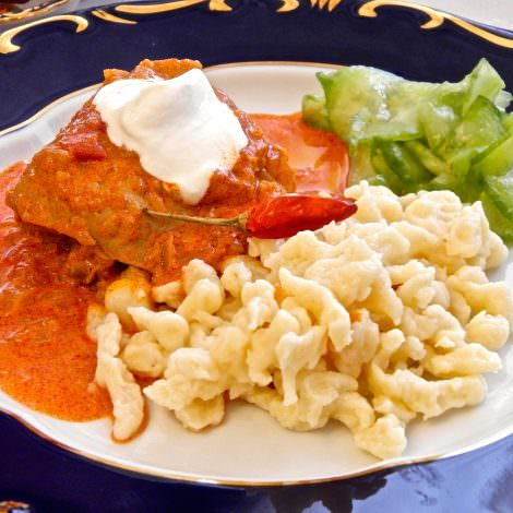 Hungarian chicken paprika recipe