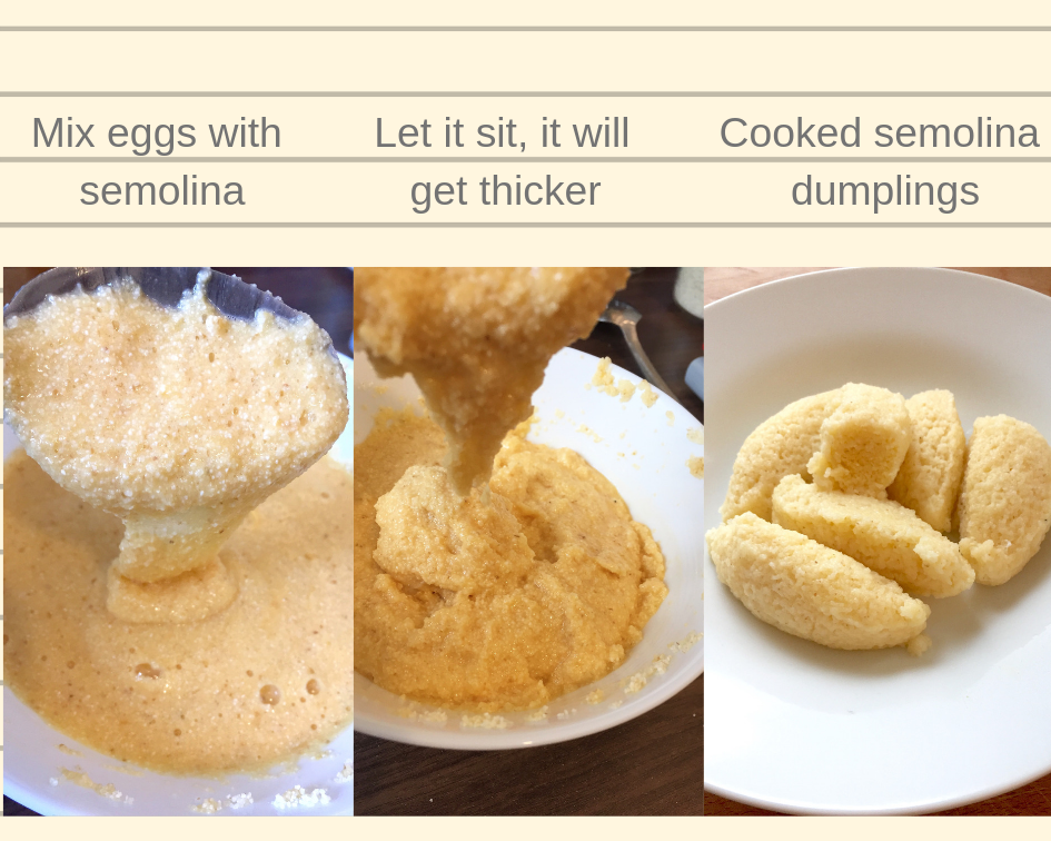 Semolina dumpling