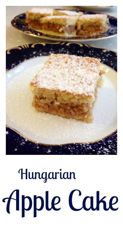 Hungarian apple cake, almás pite recipe