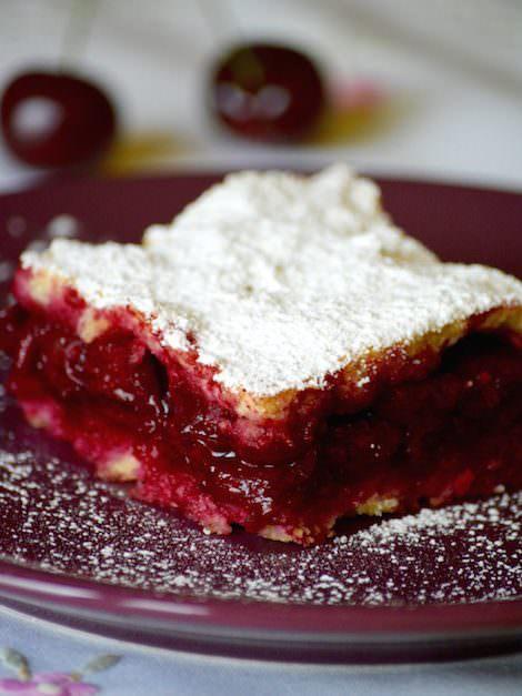 Hungarian sour cherry pie, meggyes pite