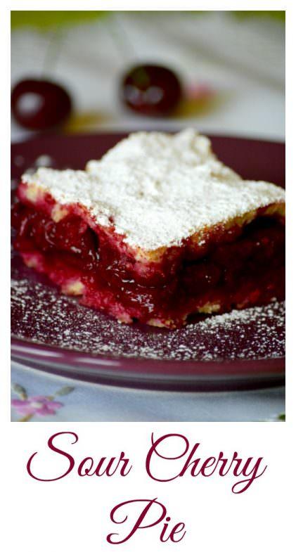 Hungarian sour cherry pie recipe, meggyes pite