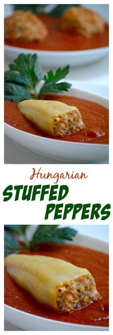 Hungarian stuffed peppers, töltött paprika recipe