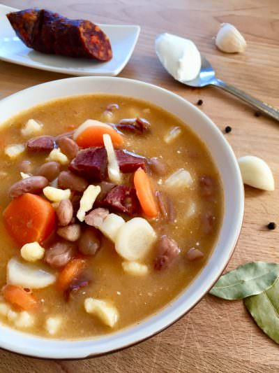 Hungarian Jókai bean soup, Jókai bableves