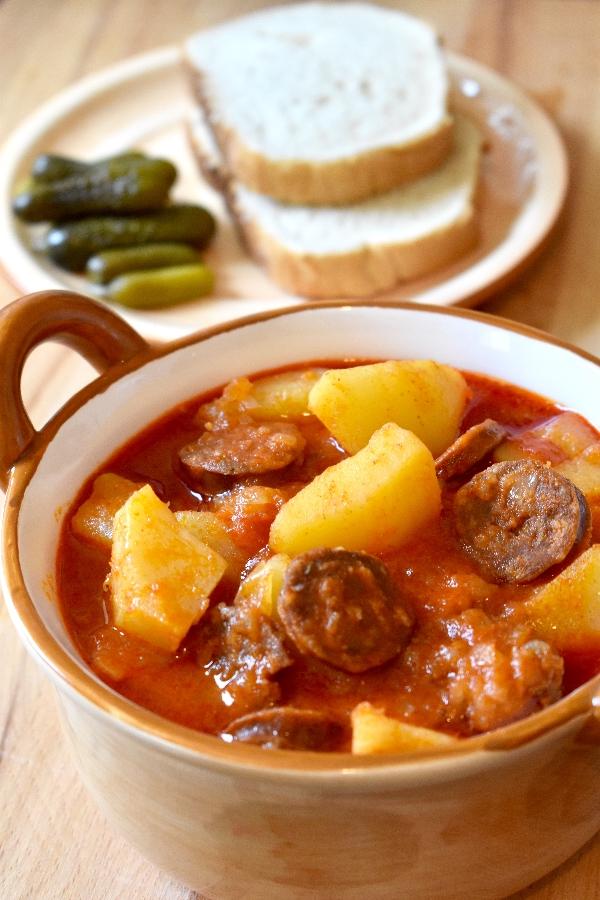 Hungarian potato paprika recipe