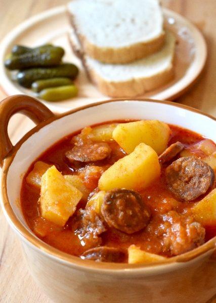 Hungarian potato paprika recipe, easy dinner recipe